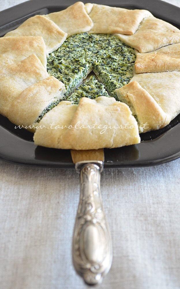 Torta ricotta e spinaci (senza uova) , Ricetta.