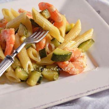 Pasta zucchine e gamberi - Ricetta