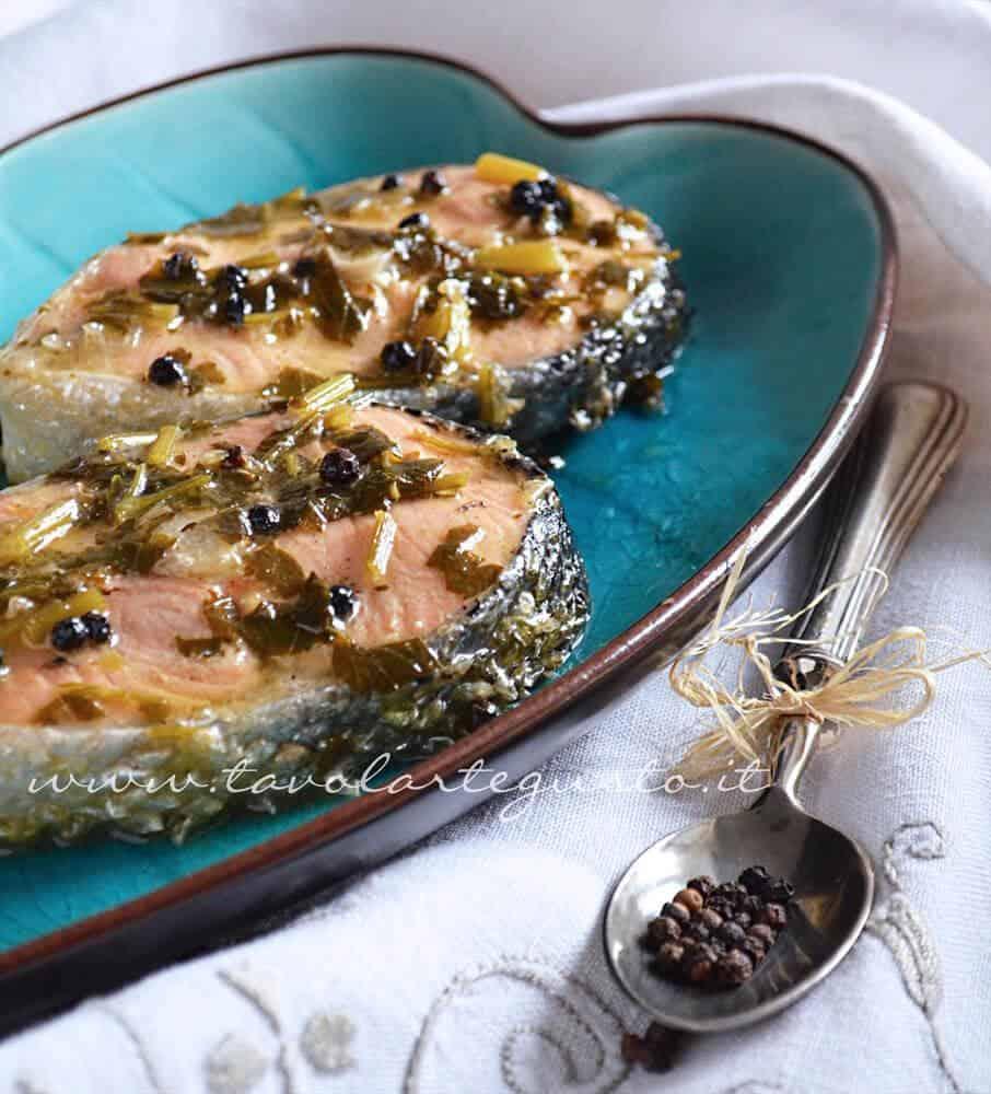 Tranci di salmone al pepe nero - Ricetta