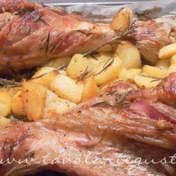 Fusi di Tacchino al forno con patate - Ricetta