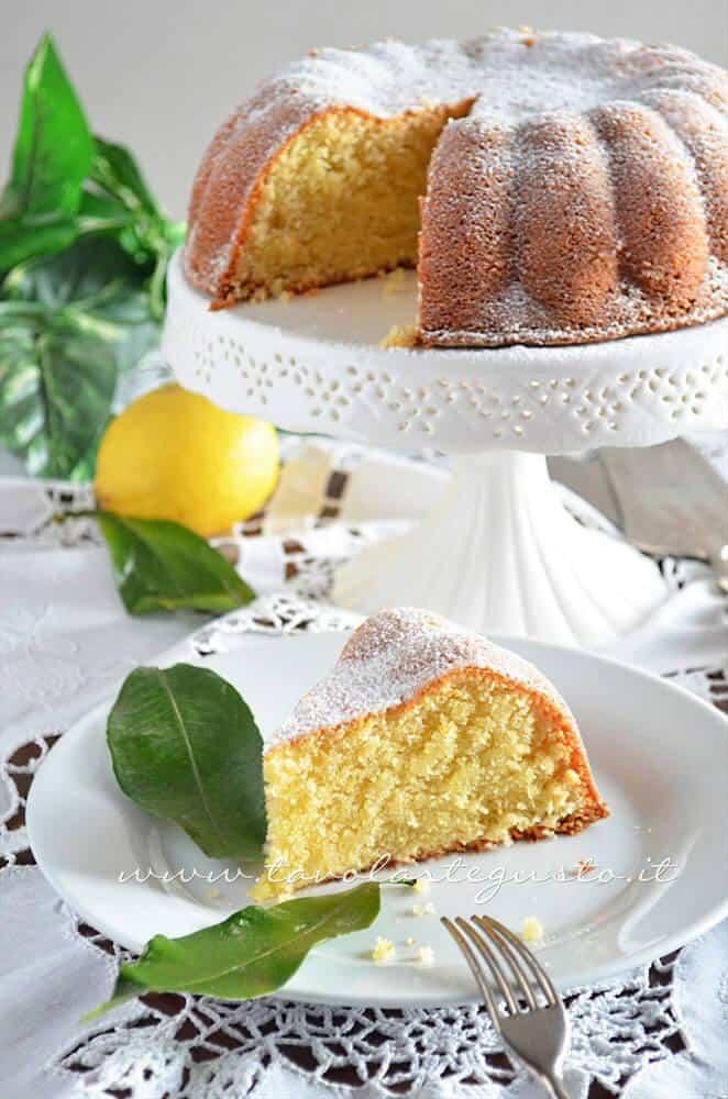 Torta al limone - soffice - Ricetta Torta al limone