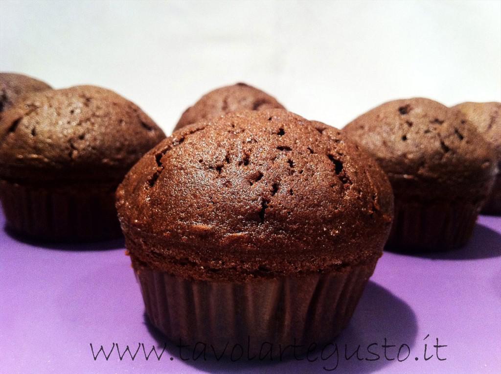 Muffin al cioccolato gianduia