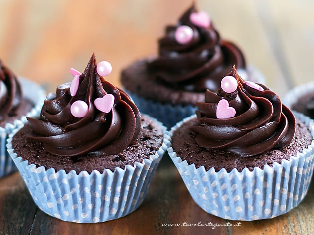 Cupcakes al cioccolato - Cupcake al cioccolato - Ricetta Cupcakes al cioccolato-