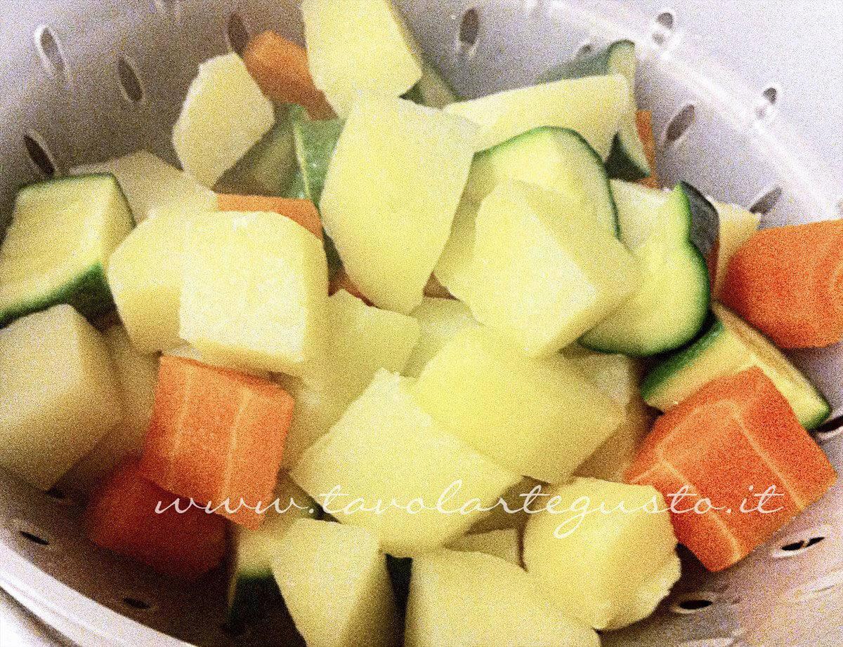 Scolare le verdure - Ricetta Verdure gratinate