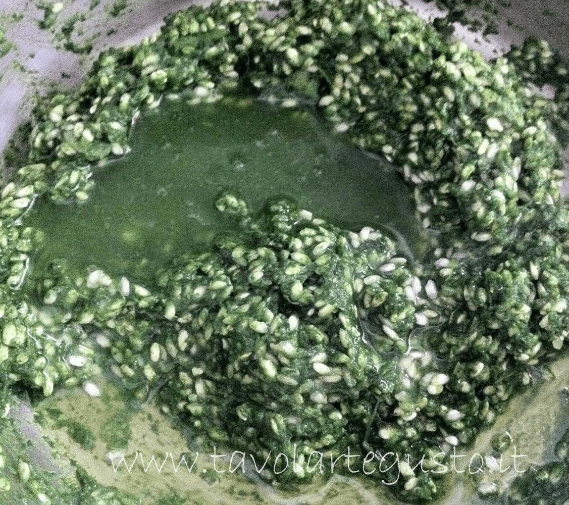 timballo di riso e spinaci in salsa di mazzancolle11