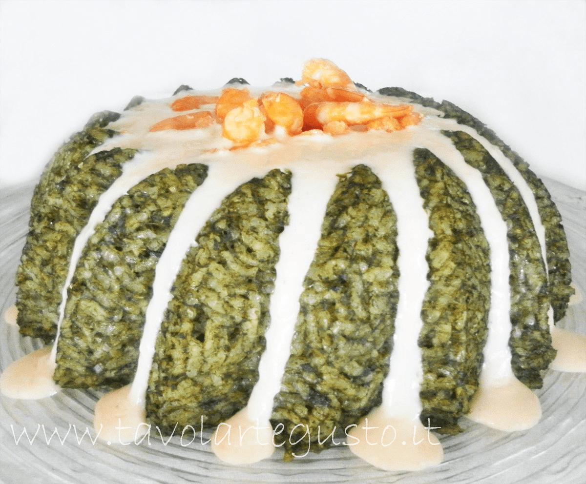 timballo di riso e spinaci in salsa di mazzancolle23