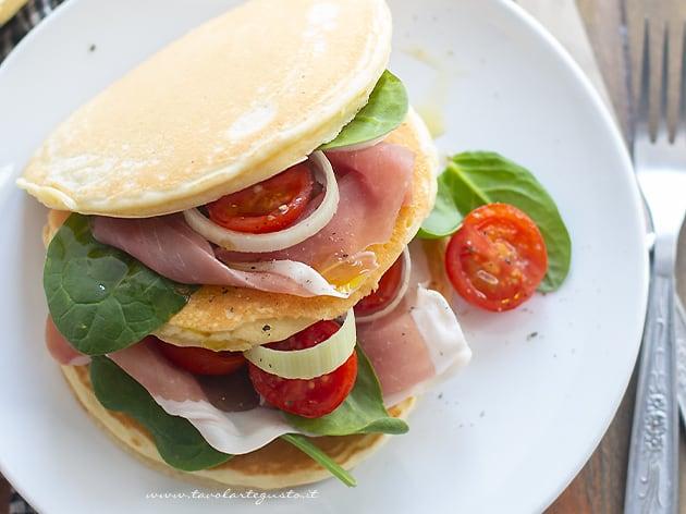 Pancake salati - Pancakes salati (Ricetta Pancake salati)