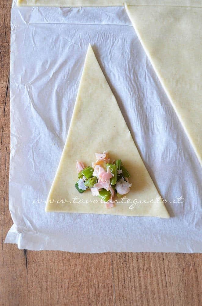 cornetti salati zucchine, fagiolini e prosciutto6