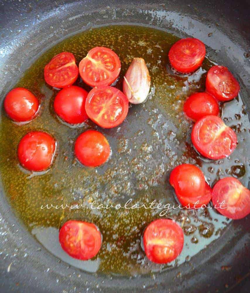 gnocchi di patate con gamberi e pachino5