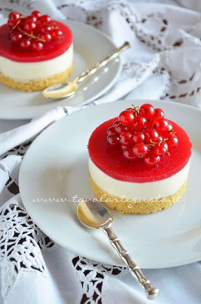 cheesecake al ribes e cioccolato bianco