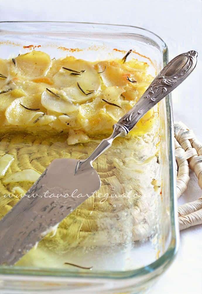 Fetta di Millefoglie di patate - Ricetta Millefoglie di patate
