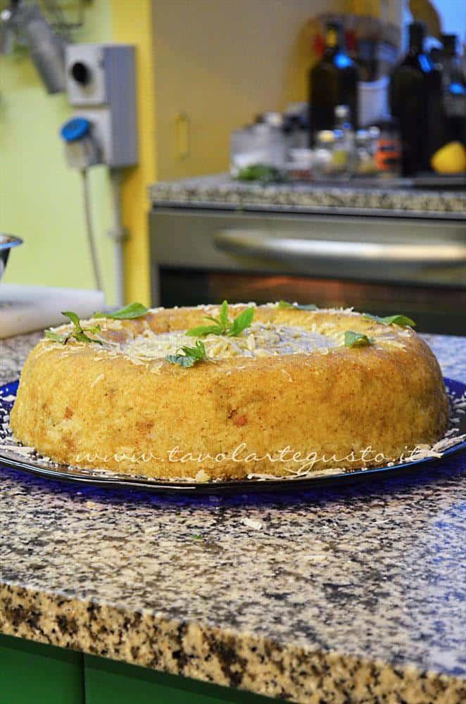 Bordura di Riso con crema di carciofi e lamelle di fossa Chef Cesare Amato
