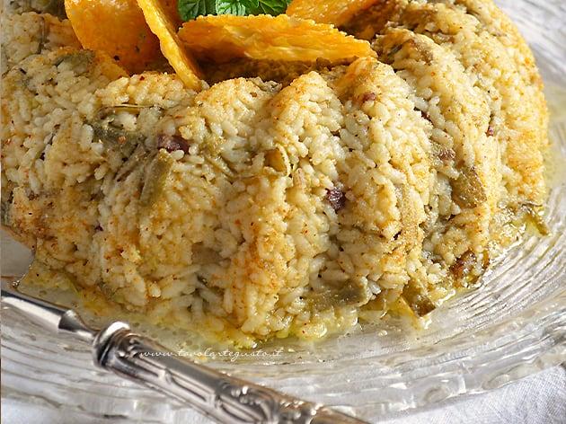 Bordura di riso con carciofi