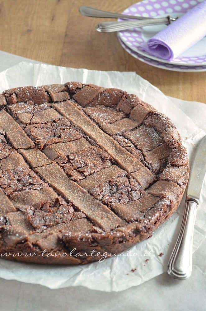 Crostata morbida al cioccolato - Ricetta.