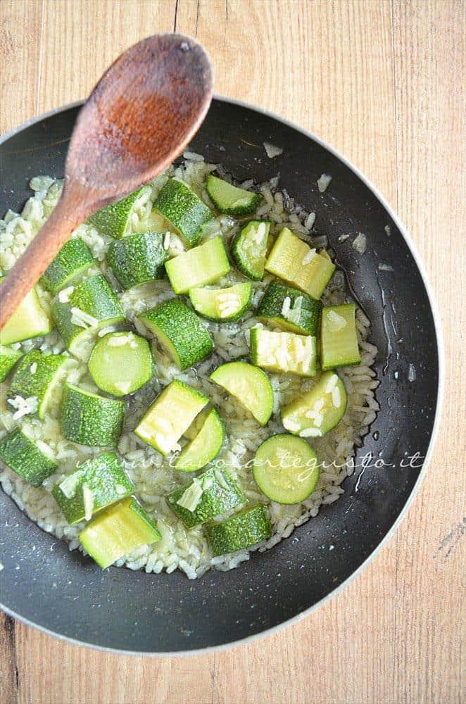 Zuccchine pronte per essere frullate - Ricetta Crema di zucchine-Vellutata di zucchine