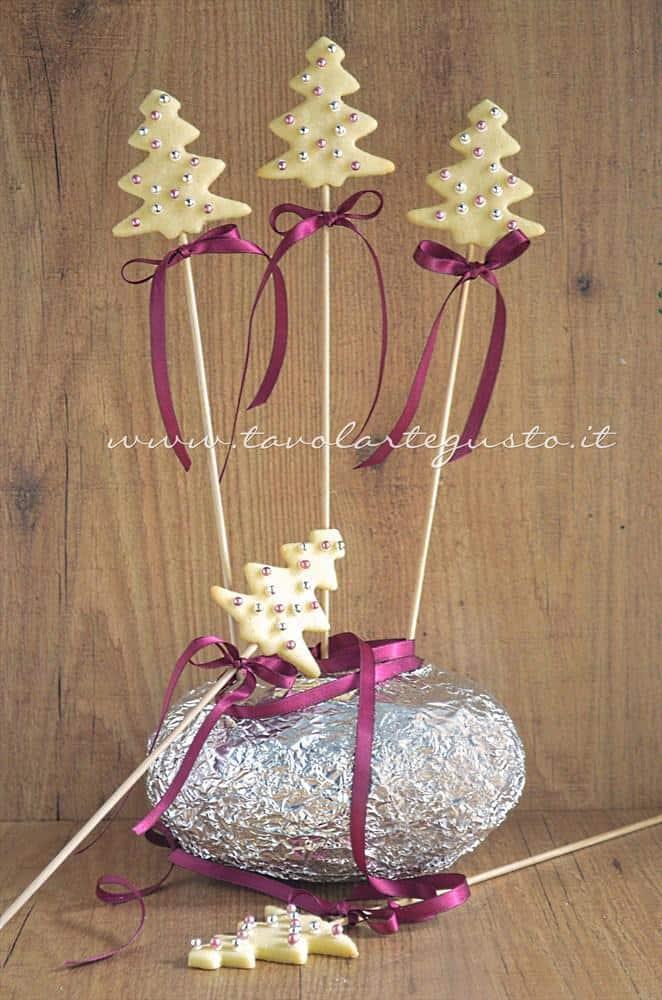 Biscotti lecca lecca natalizi (Christmas Cookies pops) - Ricetta