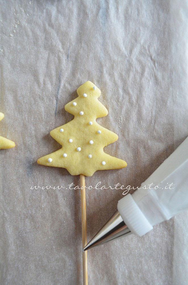 Decorare i Biscotti su stecco(2) -Ricetta Biscotti lecca lecca natalizi (Christmas Cookies pops)