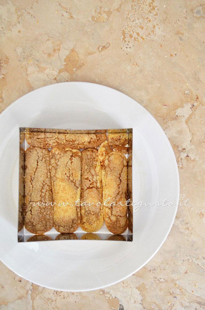 Come fare il Tiramisù con il cerchio o quadrato in accaio - Ricetta Tiramisù senza uova
