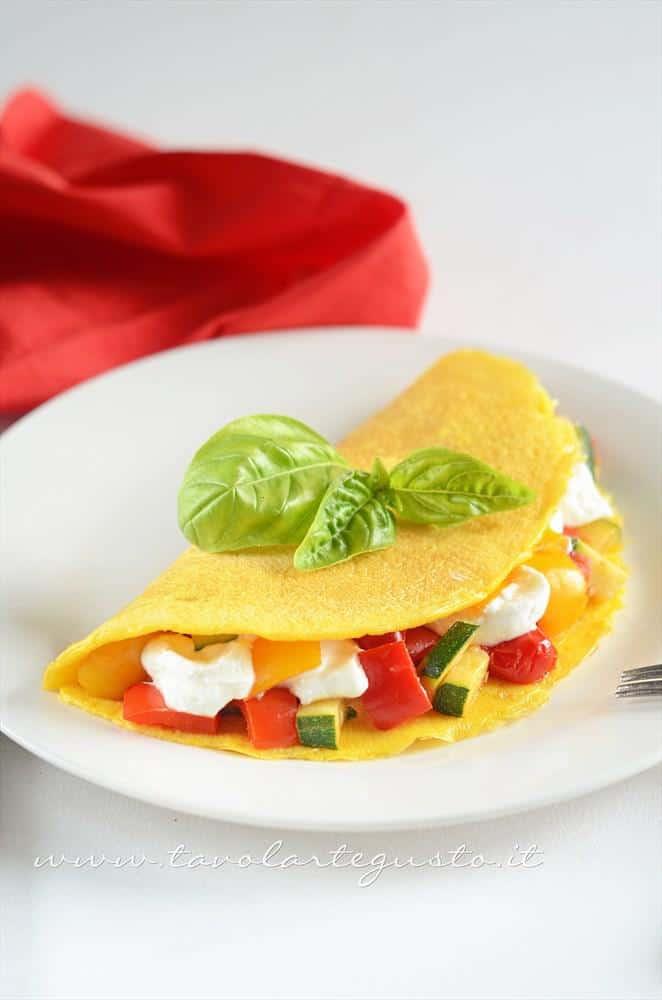 Omelette verdure e yogurt - Ricetta Omelette verdure