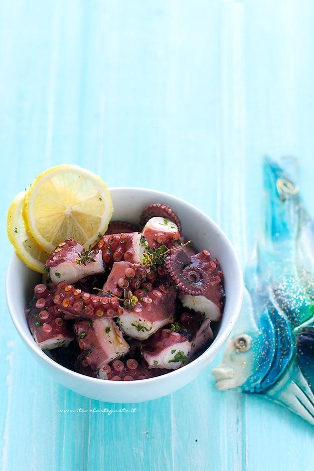 Polpo all'insalata e consigli sulla Cottura del Polpo - Ricetta Polpo all'insalata (Insalata di polpo)-