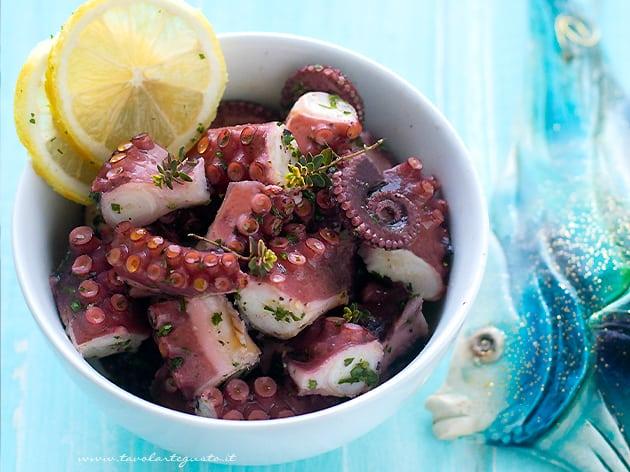 Polpo all'insalata e consigli sulla Cottura del Polpo - Ricetta Polpo all'insalata (Insalata di polpo)