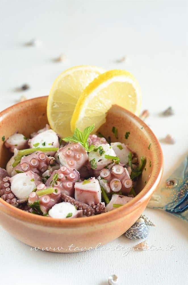 Polpo all'insalata e consigli sulla Cottura del Polpo - Ricetta Polpo all'insalata