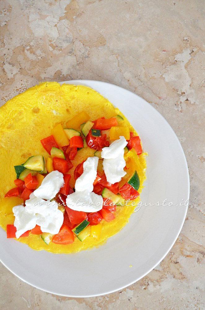 Riempire l'Omelette di verdure e yogurt - Ricetta Omelette verdure e yogurt