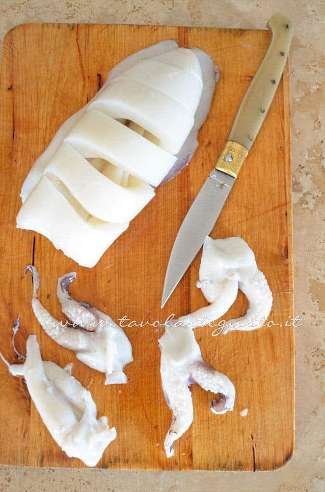 Come grigliare la seppia - Ricetta Spiedini di Seppie