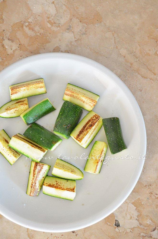 Grigliare le zucchine - Ricetta Spiedini di Seppie