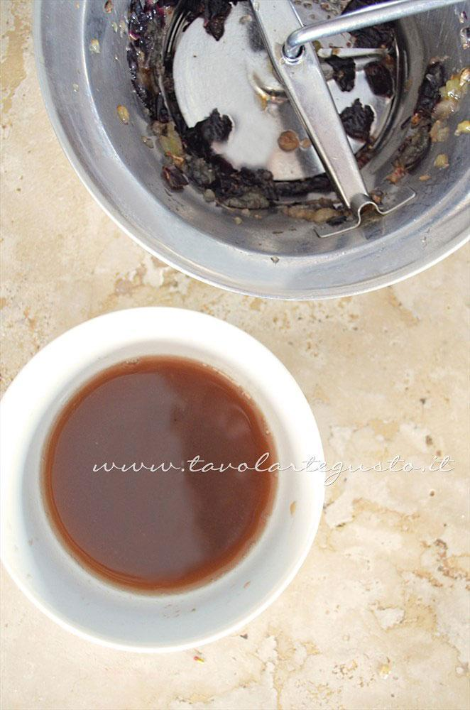 Ricavare il succo d'uva - Ricetta Scaloppine all'uva