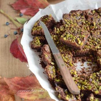 Brownies al cioccolato e pistacchi - Ricetta Brownies
