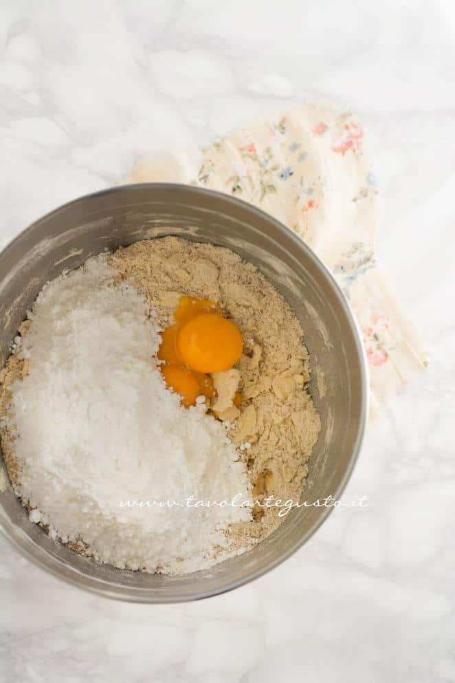 Preparare la Pasta Frolla al caffè 2 - Ricetta Biscotti al Cappuccino