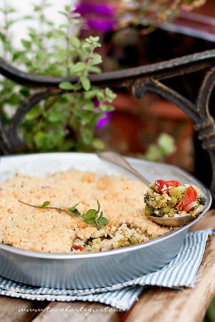 Crumble di Verdure - Ricetta Crumble di Verdure.
