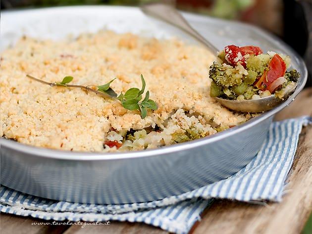Crumble salato - Crumble di verdure