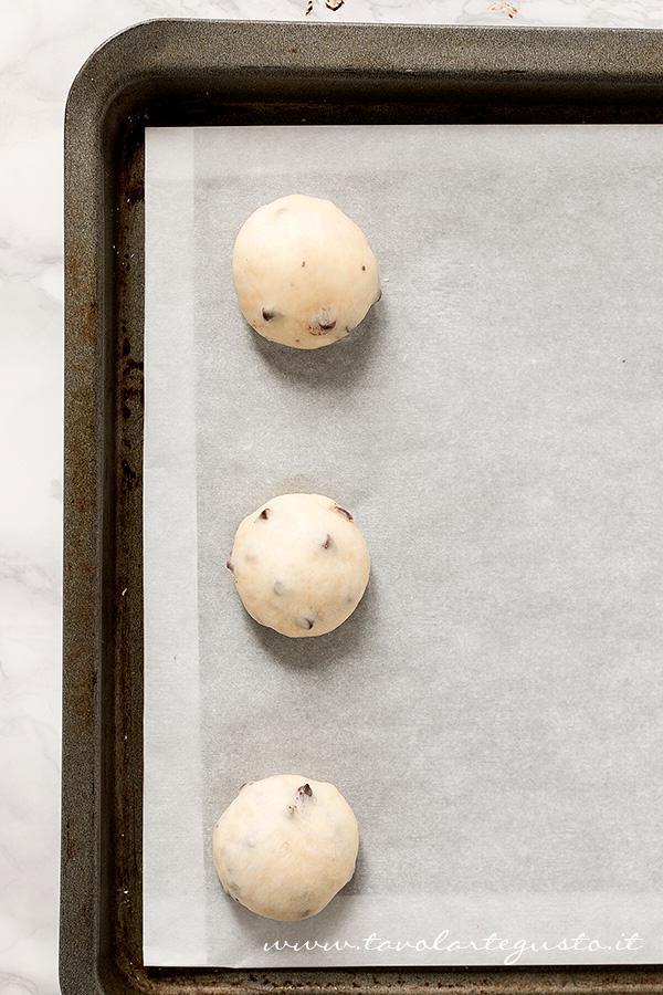 Pangoccioli in lievitazione - Ricetta Pangoccioli
