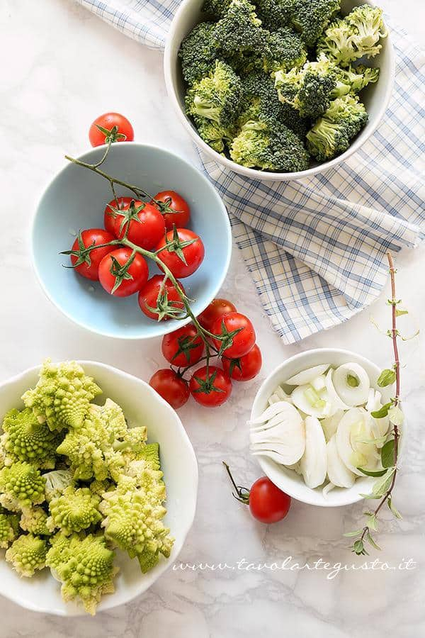 Pulire e lavare le verdure - Ricetta Crumble di Verdure
