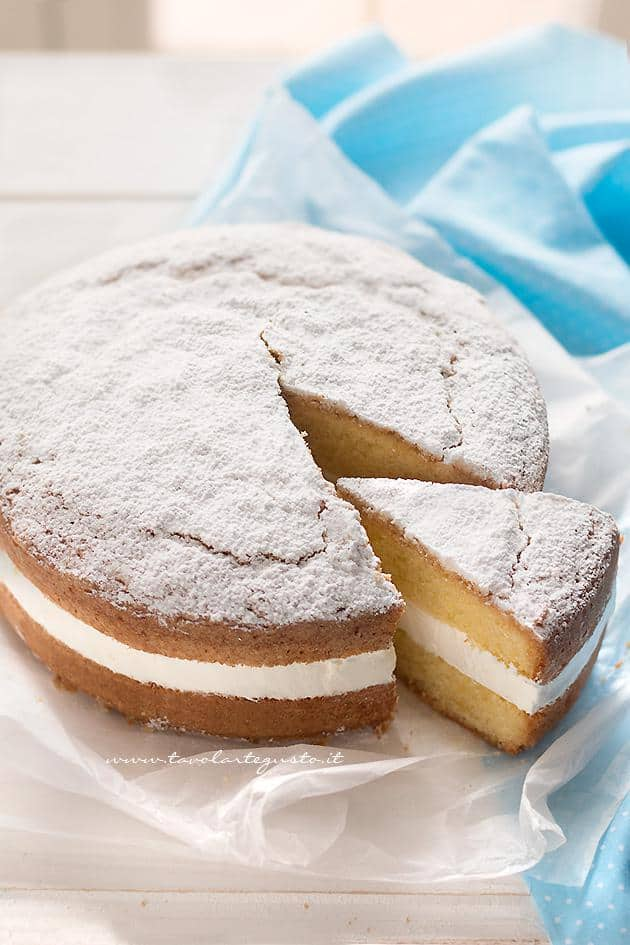 Torta paradiso con Crema al latte - Ricetta Torta Paradiso