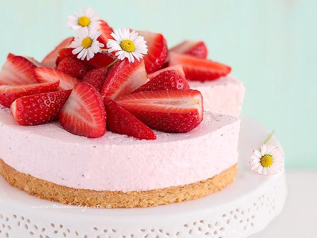 Cheesecake alle Fragole - Ricetta Cheesecake alle Fragole-