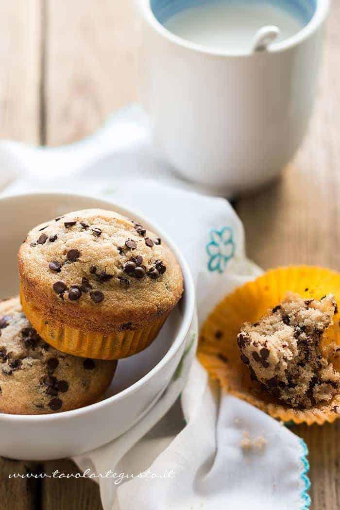 Muffin con gocce di cioccolato -Ricetta originale Muffin con gocce di cioccolato - Ricetta Muffin