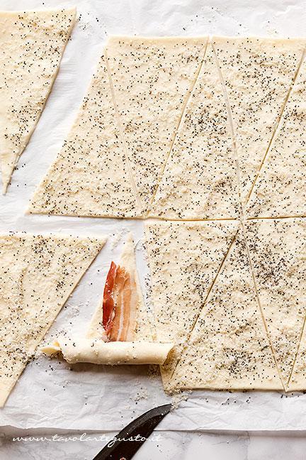 Come fare i Croissant salati - Ricetta Croissant salati