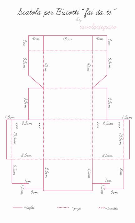 Favoloso Scatola per Biscotti fai da te, con tutorial e pdf scaricabile KD06