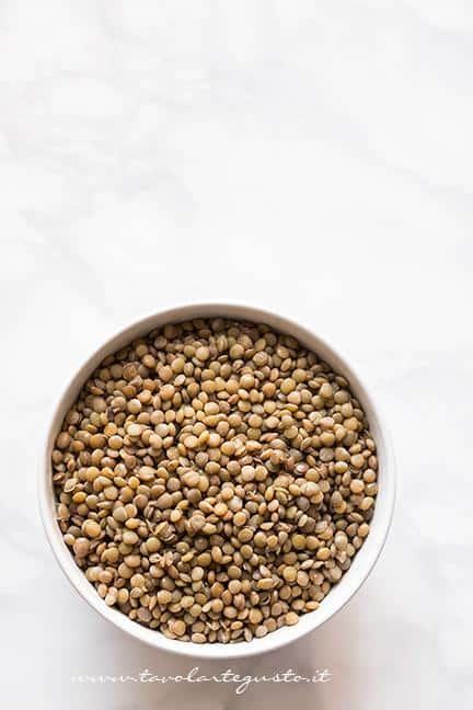 Bollire le lenticchie - Ricetta Zuppa di lenticchie