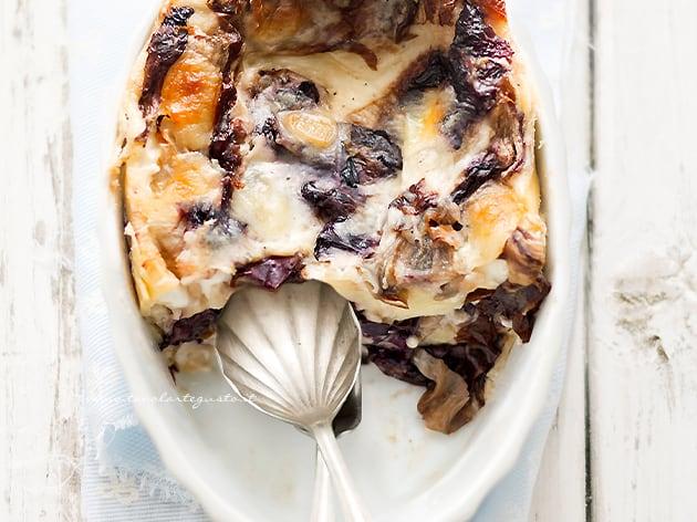 Lasagne al radicchio - Ricetta Lasagne al radicchio-