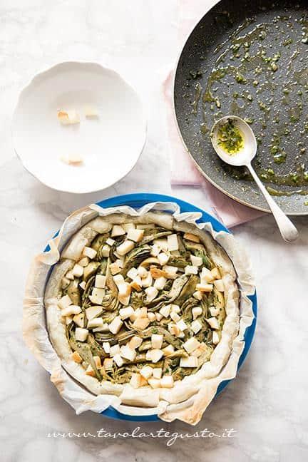 Assemblare la torta salata3 - Ricetta Torta salata ai Carciofi