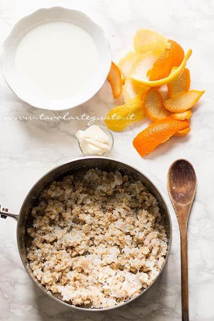 Preparare la crema di grano1 - Ricetta Pastiera napoletana