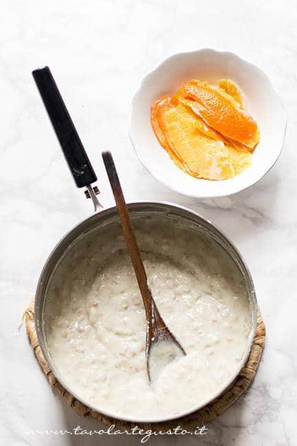 Preparare la crema di grano5 - Ricetta Pastiera napoletana