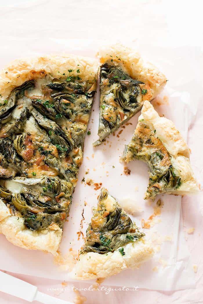 Torta salata con Carciofi - Ricetta Torta salata con Carciofi