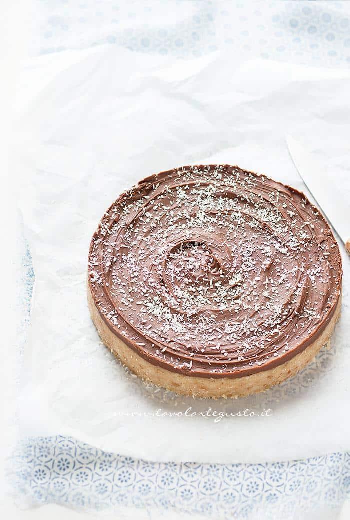 Torta cocco e cioccolato fredda - senza cottura - Ricetta Tavolartegusto-