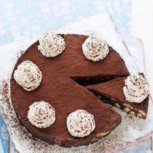 Torta di biscotti al cioccolato, fredda e senza cottura - Ricetta Torta di biscotti
