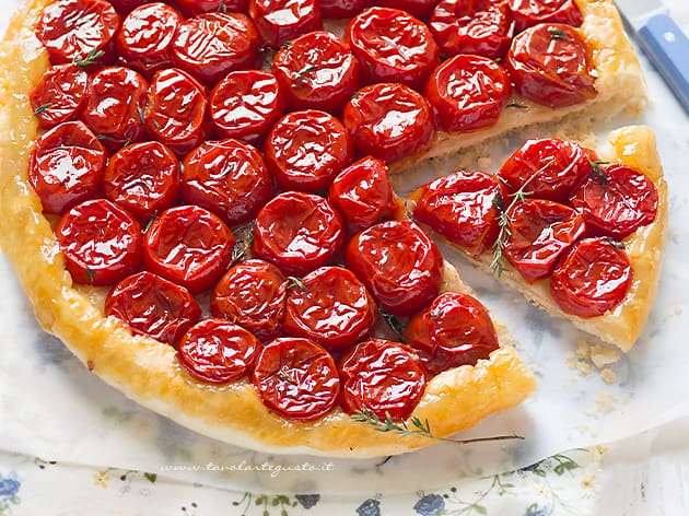 Tarte tatin di pomodorini - Tarte tatin salata
